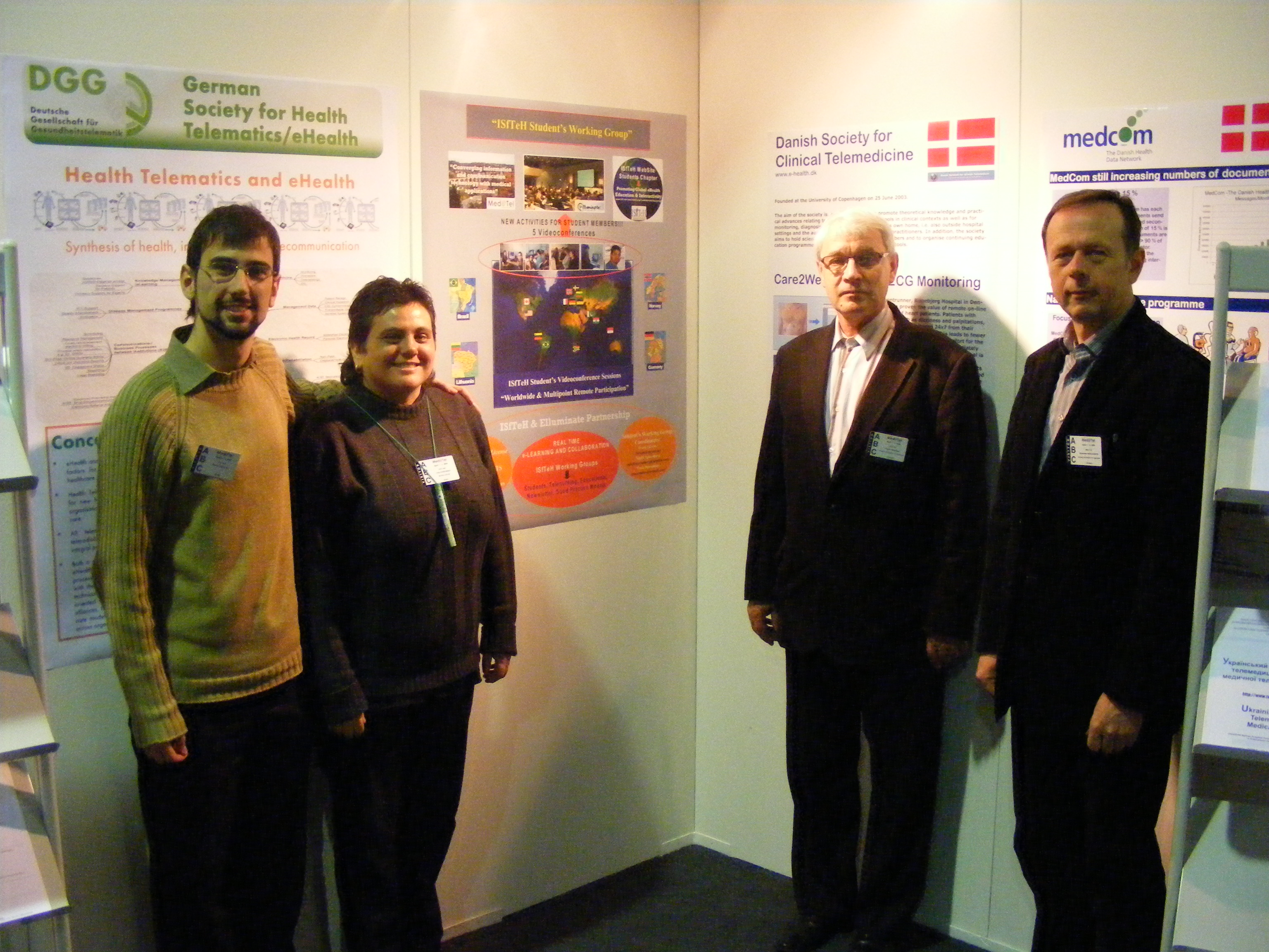 Stratelus Director Prof. A.Paunksnis with colleagues at MediTel in Luxembourg